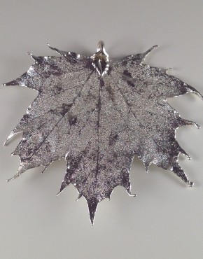Silver Finish Maple Leaf
