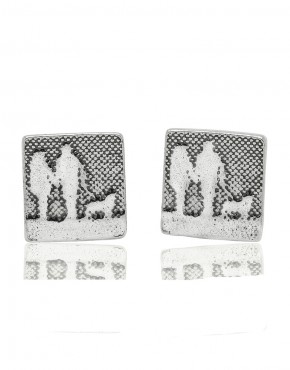 Best Friend Square Earrings