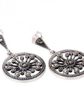 Marcasite Circle Earrings