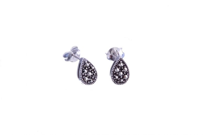 685569456 Marcasite Peardrop Stud Earrings Earrings, Gemstone Earrings, Silver  Earrings
