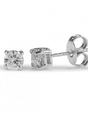 diamond studs white gold .10ct