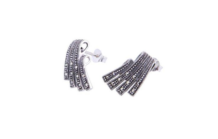 04cceba2f Marcasite Deco Delight Stud Earrings Earrings, Gemstone Earrings, Silver  Earrings
