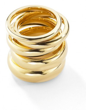 Court Shaped Yellow Gold Wedding Rings