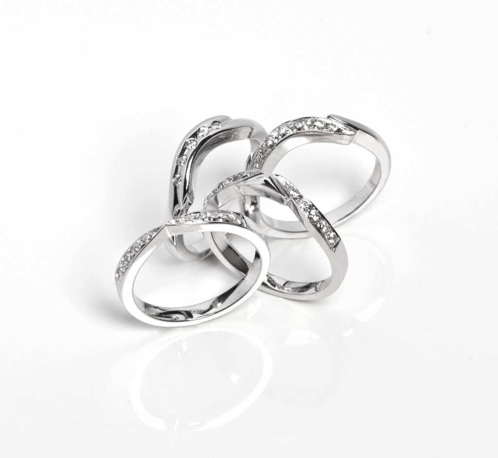 diamond contour rings