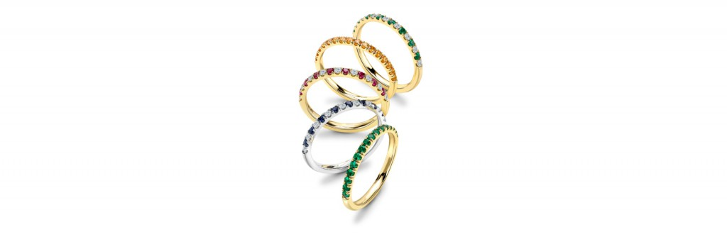 Eternity Rings in coloured stones