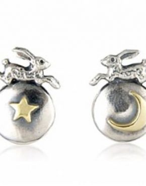 Hare, Moon and Star Earrings