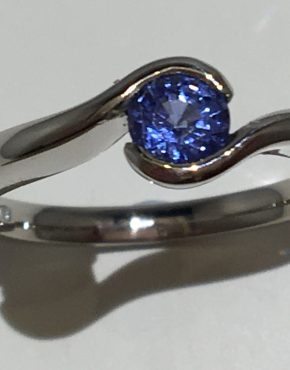 Embrace Sapphire Engagement Ring