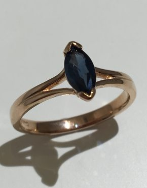 Rosa Australian Sapphire Engagement Ring
