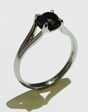 Black Beauty Engagement Ring