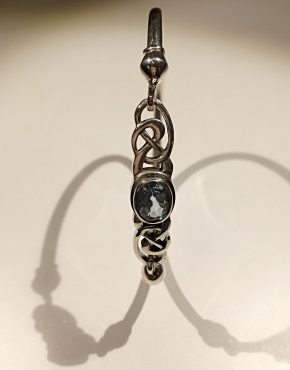 Blue Topaz Celtic Bangle