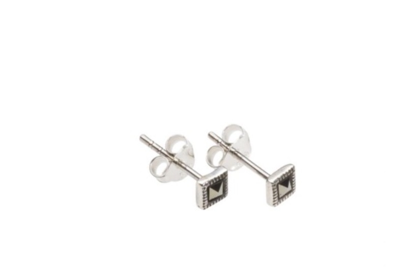 abbe85a70 Teeny Tiny Marcasite Square Earrings - Adorn Jewellers of Chesterfield
