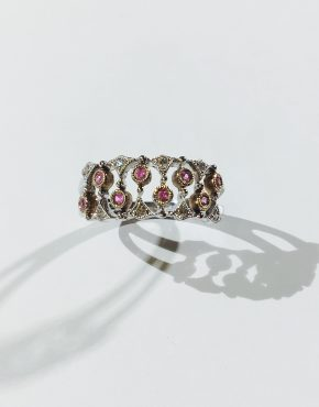 Vintage style Pink Sapphire