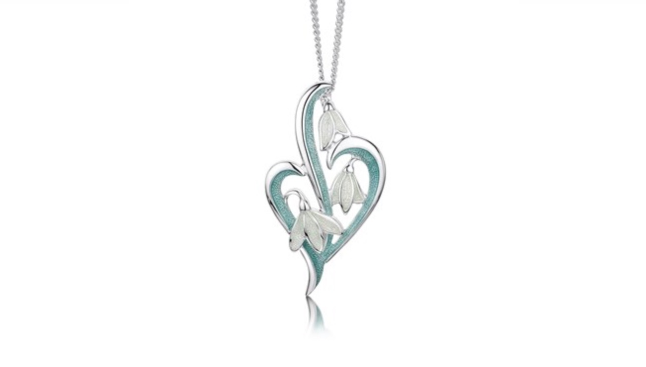 eec891ea4 Snowdrop Trilogy Pendant Pendants, Sheila Fleet Jewellery, Silver Pendants