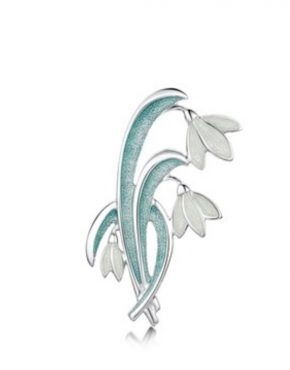 Snowdrop flower brooch
