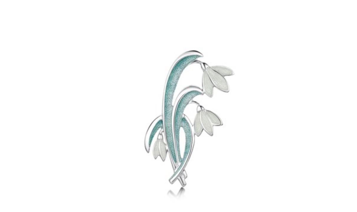 ce3289b53 Snowdrop Brooch Brooches, Sheila Fleet Jewellery, Silver Brooches