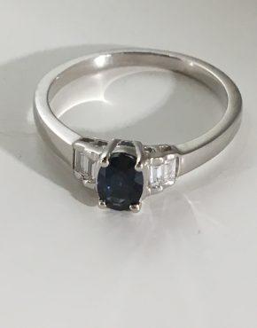 Midnight Blue Sapphire Ring