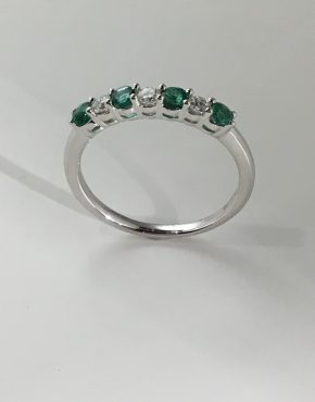 Emerald & Diamond Eternity Ring 1