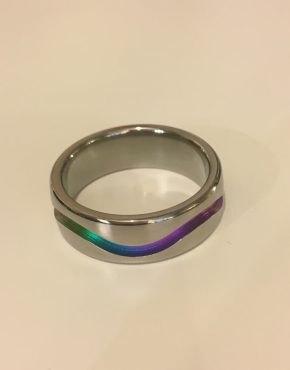 Rainbow Titanium Ring 7mm