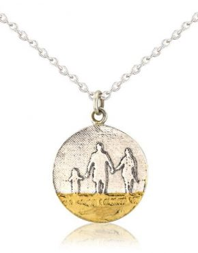 Round Beach Family Necklace