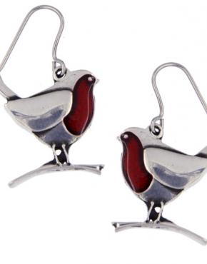 Robin Pewter earrings