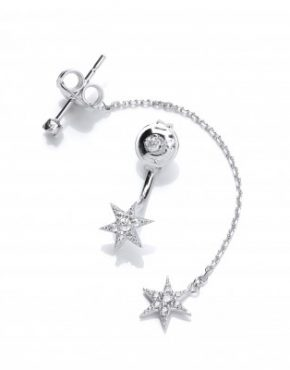 asymmetrical star earrings